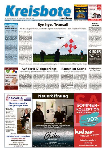Kreisbote Landsberg vom 25.08.2021