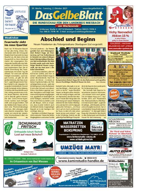 Rundschau Miesbach Wochenende vom 02.10.2021