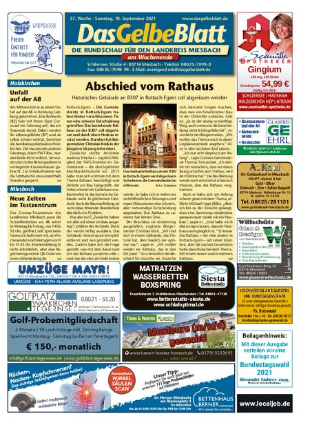 Rundschau Miesbach Wochenende vom 18.09.2021