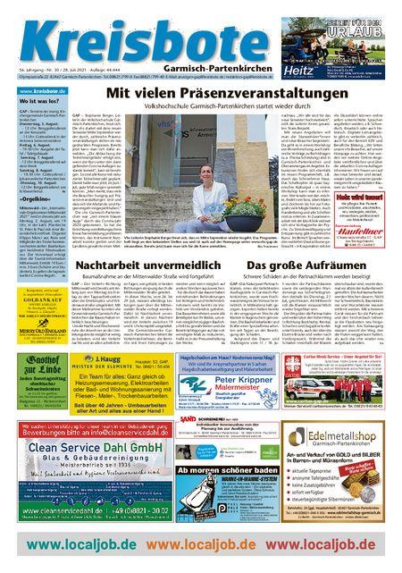 Kreisbote Garmisch-Part. vom 28.07.2021