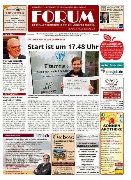 Forum Freising vom 29.09.2021