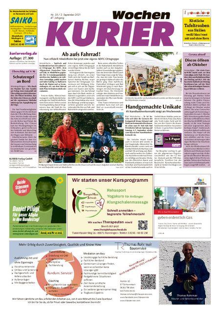 Mindelheim Wochenkurier vom 02.09.2021