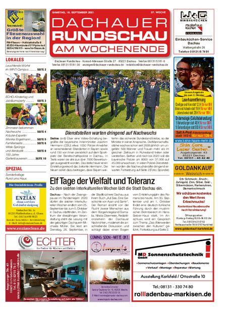 Dachauer Rundschau Wochenende vom 18.09.2021