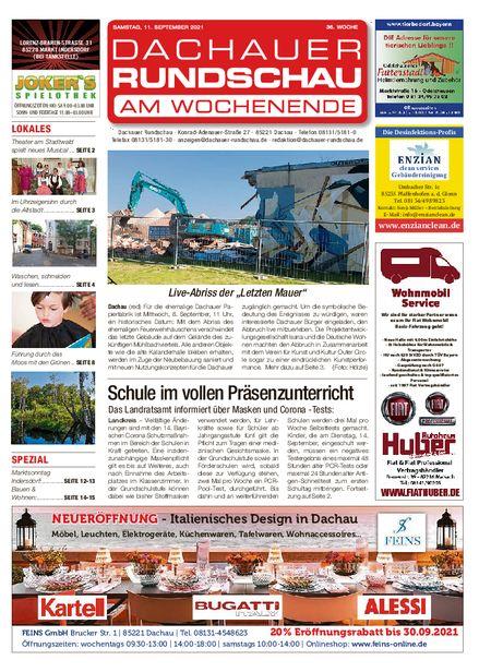 Dachauer Rundschau Wochenende vom 11.09.2021