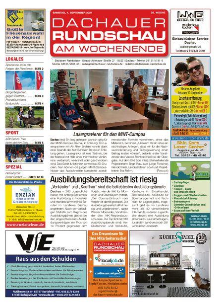 Dachauer Rundschau Wochenende vom 04.09.2021