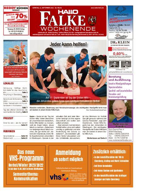 Markt Schwabener Falke Wochenende vom 11.09.2021