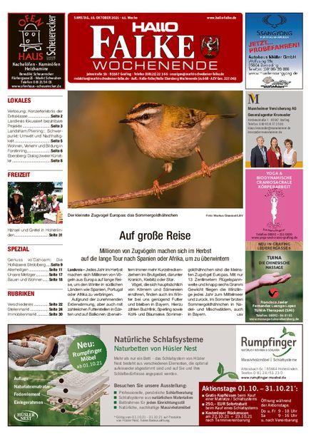 Markt Schwabener Falke Wochenende vom 16.10.2021