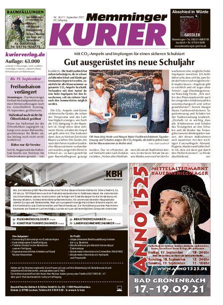 Memminger Kurier Wochenende vom 11.09.2021