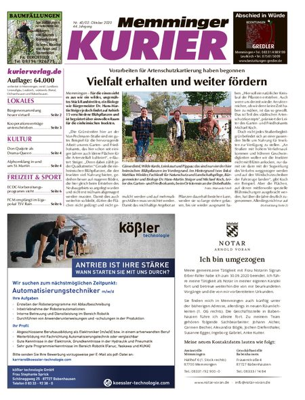 Memminger Kurier Wochenende vom 02.10.2020