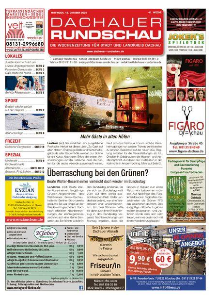 Dachauer Rundschau vom 13.10.2021