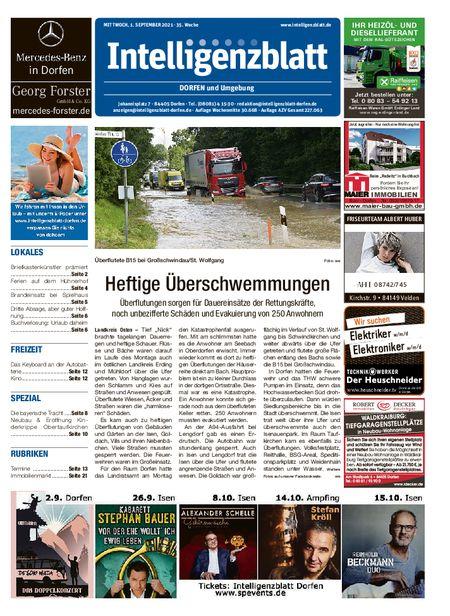 Intelligenzblatt Dorfen vom 01.09.2021
