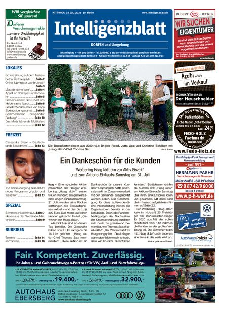 Intelligenzblatt Dorfen vom 28.07.2021