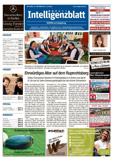 Intelligenzblatt Dorfen vom 15.09.2021