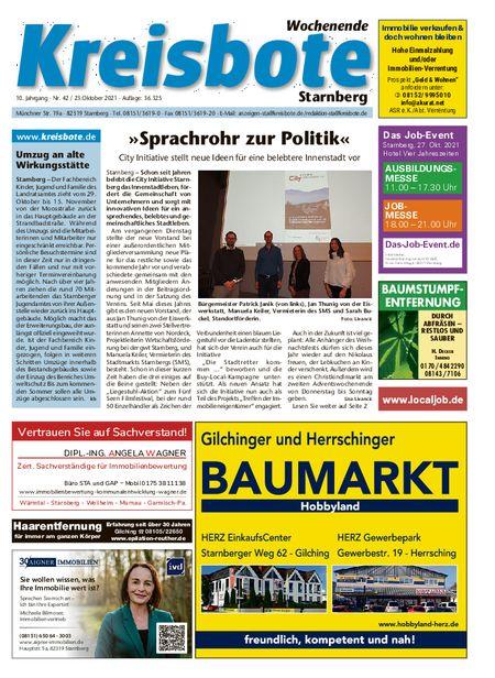 Kreisbote Starnberg Wochenende vom 23.10.2021