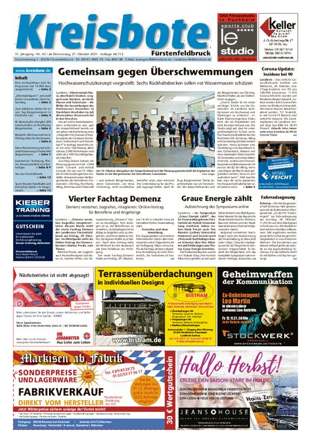Kreisbote Fürstenfeldbruck vom 23.10.2021