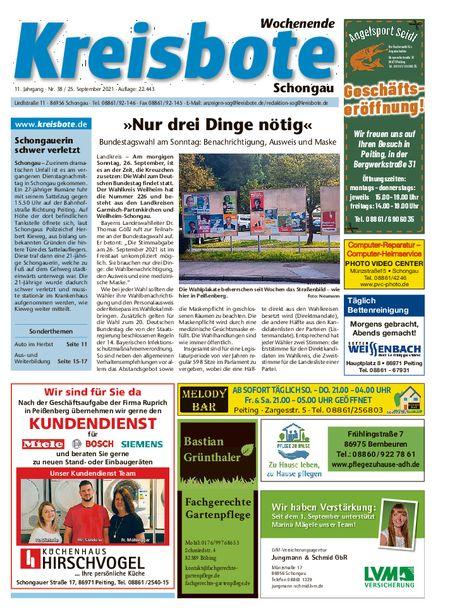 Kreisbote Schongau Wochenende vom 25.09.2021