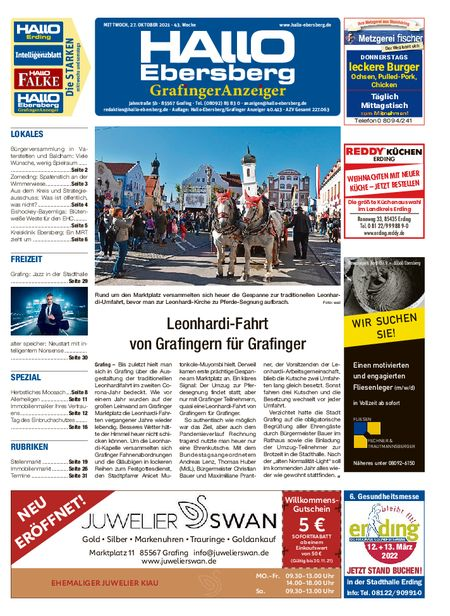 Hallo Ebersberg/Grafinger Anzeiger vom 27.10.2021
