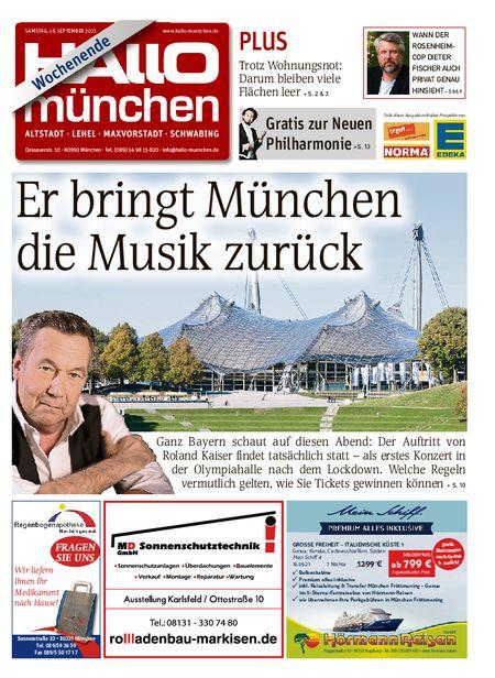 Hallo München Mitte Wochenende vom 18.09.2021