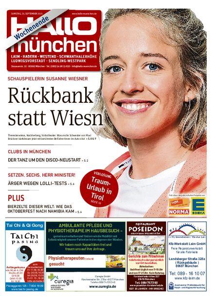 Hallo München Südwest Wochenende vom 25.09.2021