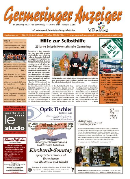 Germeringer Anzeiger vom 16.10.2021
