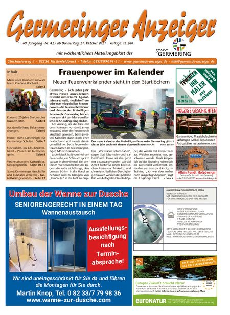 Germeringer Anzeiger vom 23.10.2021