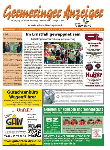 Germeringer Anzeiger vom 09.10.2021