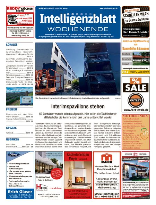 Intelligenzblatt Dorfen Wochenende vom 08.08.2020