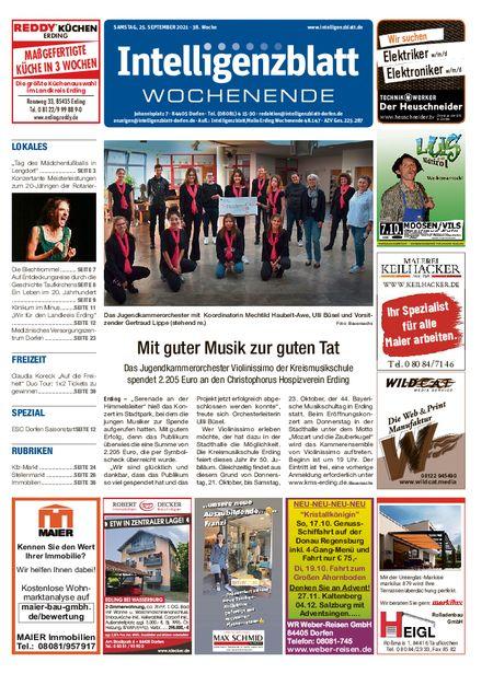 Intelligenzblatt Dorfen Wochenende vom 25.09.2021
