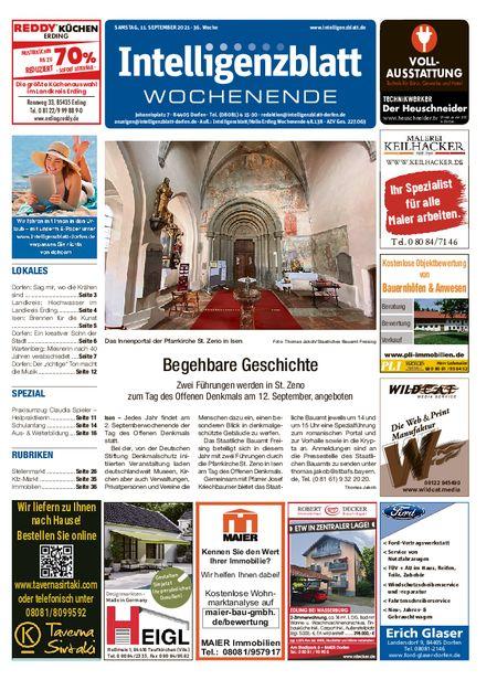 Intelligenzblatt Dorfen Wochenende vom 11.09.2021