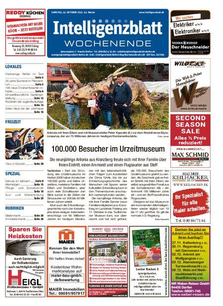 Intelligenzblatt Dorfen Wochenende vom 23.10.2021