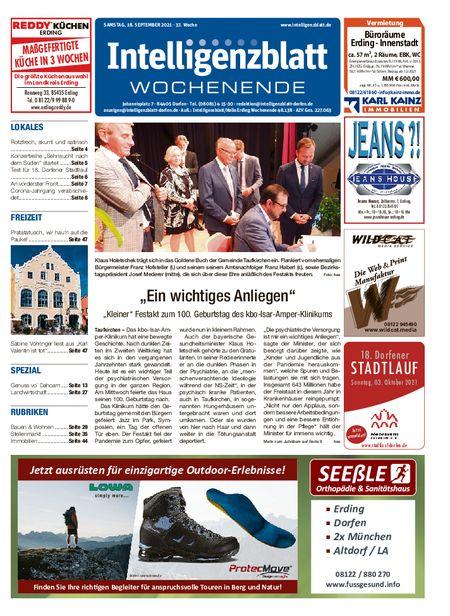 Intelligenzblatt Dorfen Wochenende vom 18.09.2021