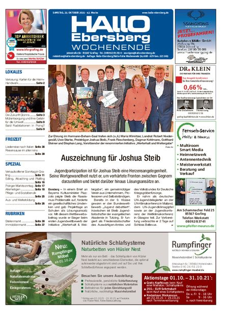 Hallo Ebersberg Wochenende vom 23.10.2021