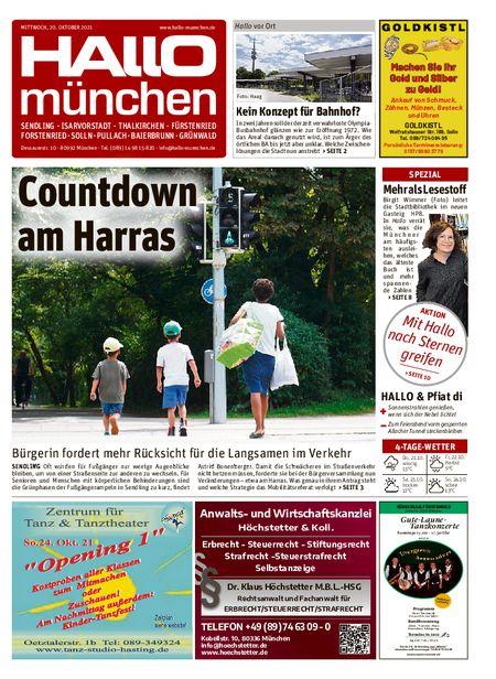 Hallo München Süd vom 20.10.2021