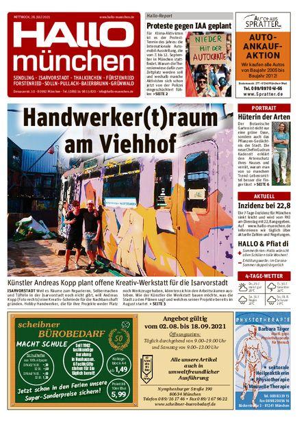 Hallo München Süd vom 28.07.2021