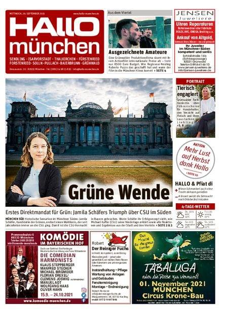 Hallo München Süd vom 29.09.2021