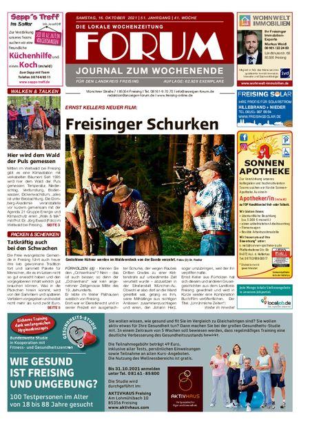 Forum Journal Wochenende vom 16.10.2021