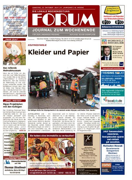 Forum Journal Wochenende vom 23.10.2021