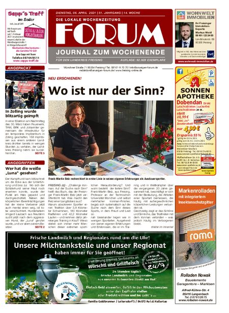 Forum Journal Wochenende vom 03.04.2021
