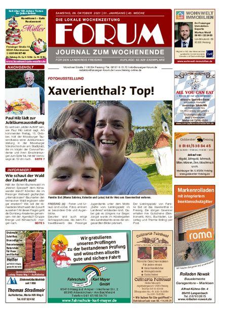 Forum Journal Wochenende vom 09.10.2021