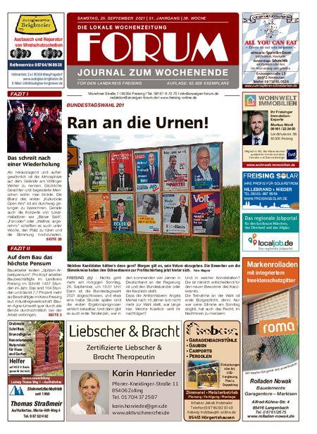 Forum Journal Wochenende vom 25.09.2021