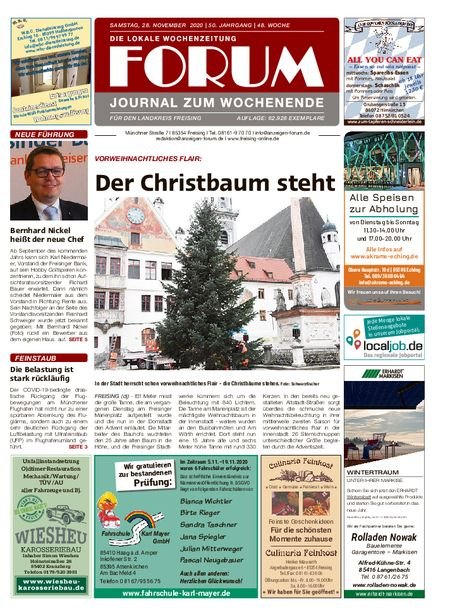 Forum Journal Wochenende vom 28.11.2020