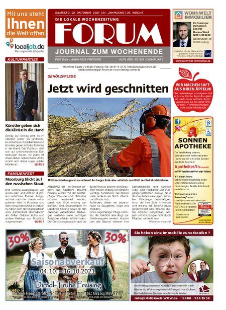 Forum Journal Wochenende vom 02.10.2021
