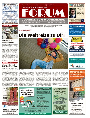 Forum Journal Wochenende vom 22.05.2021