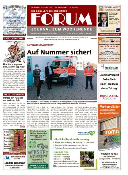 Forum Journal Wochenende vom 10.04.2021