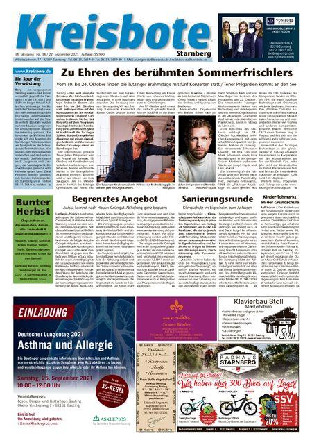 Kreisbote Starnberg vom 22.09.2021