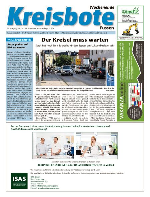 Kreisbote Füssen Wochenende vom 19.09.2020