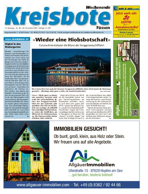 Kreisbote Füssen Wochenende vom 28.11.2020