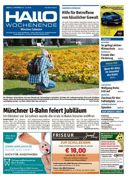 Hallo Wochenende Münchner Südosten vom 04.09.2021
