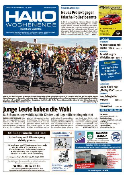 Hallo Wochenende Münchner Südosten vom 11.09.2021