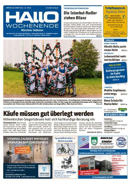 Hallo Wochenende Münchner Südosten vom 28.08.2021